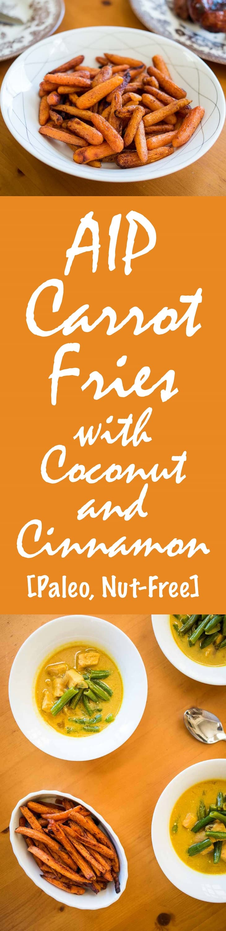 AIP Carrot Fries Recipe with Coconut and Cinnamon [Paleo, Nut-Free] #paleo #recipe http://healingautoimmune.com/aip-carrot-fries-recipe-paleo