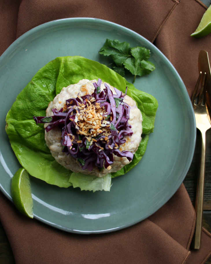 AIP Turkey Burgers with Slaw Recipe #aip https://healingautoimmune.com/aip-turkey-burgers-slaw-recipe