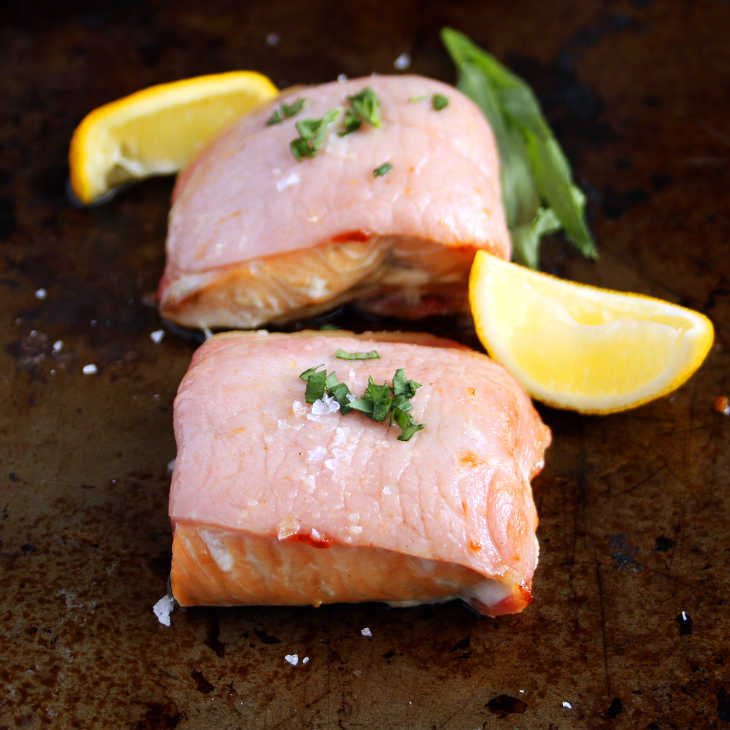 AIP Bacon-Wrapped Salmon Recipe #aip https://healingautoimmune.com/aip-bacon-wrapped-salmon-recipe