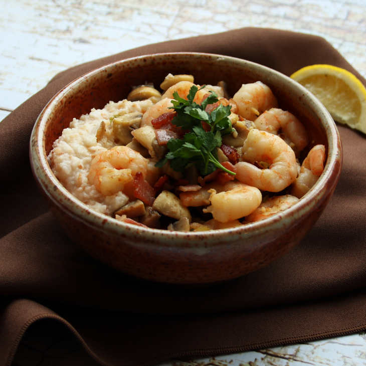 AIP Coconut Shrimp and Grits Recipe #aip https://healingautoimmune.com/aip-coconut-shrimp-grits-recipe