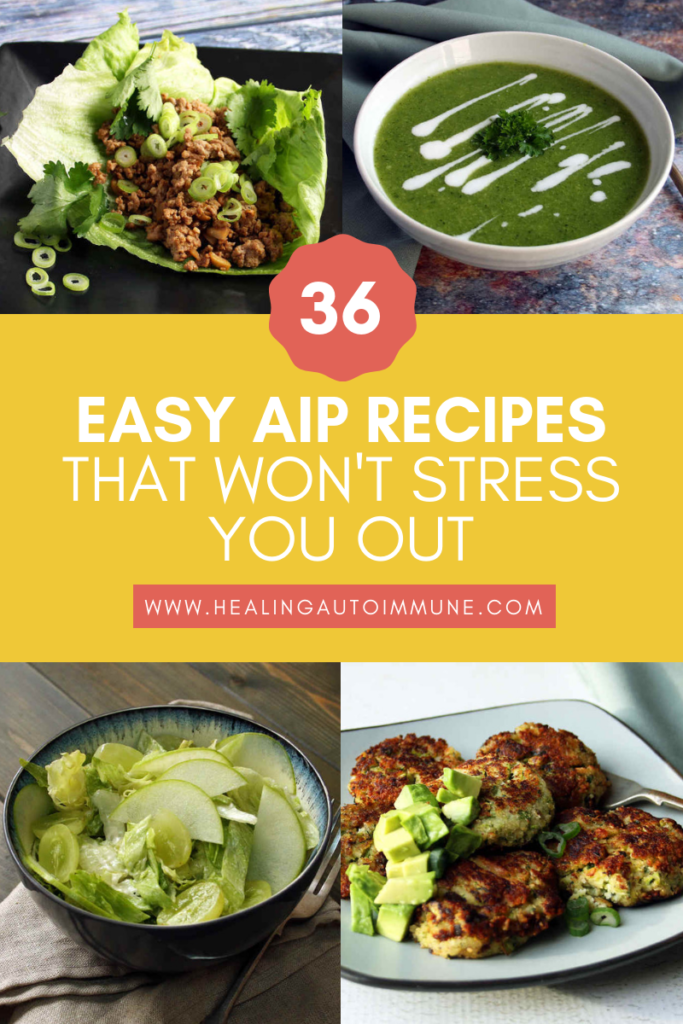 36 Easy AIP Recipes That Won't Stress You Out Collage https://healingautoimmune.com/easy-aip-recipes