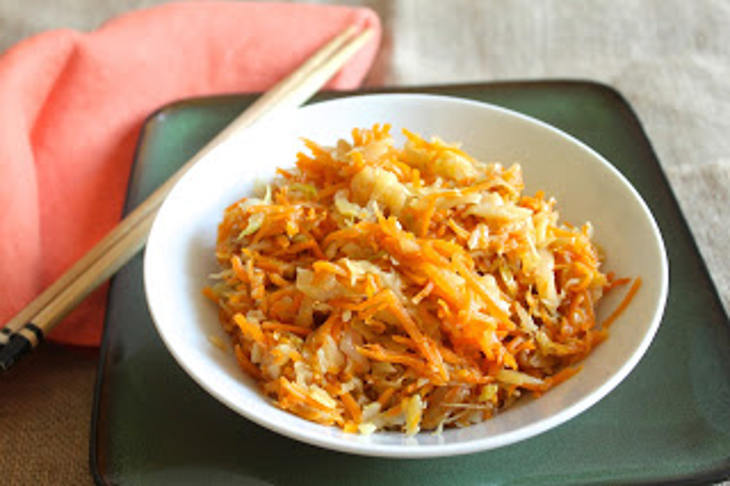 Gingered Cabbage and Carrots