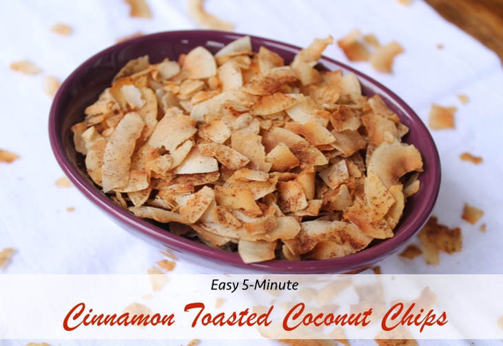 5-Minute Cinnamon Toasted Coconut Chips