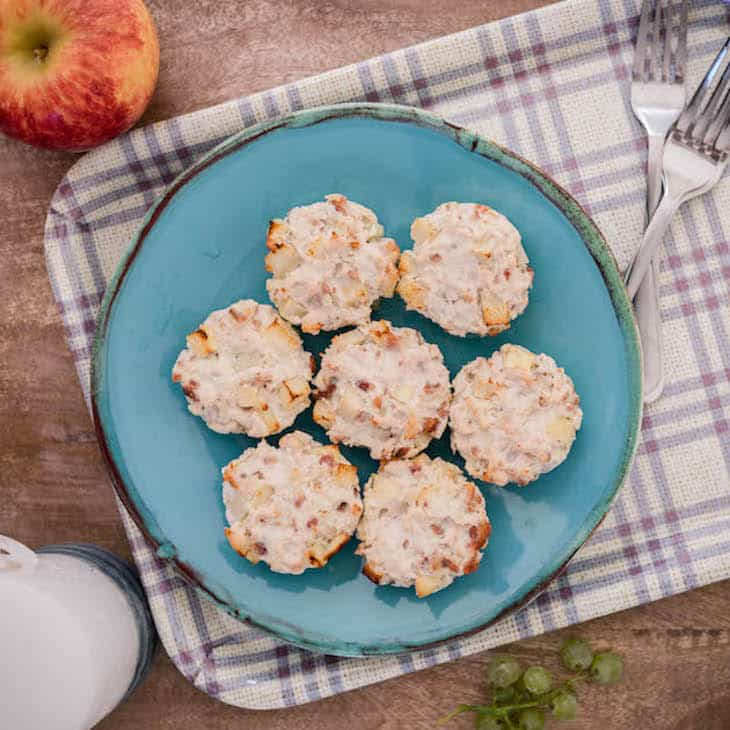 Chicken, Bacon, And Apple Mini Meatloaves