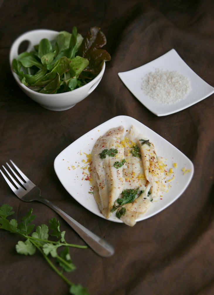 Aromatic Dover Sole Fillets