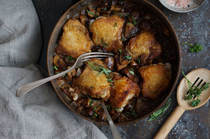 Chicken with Mushrooms and Tarragon