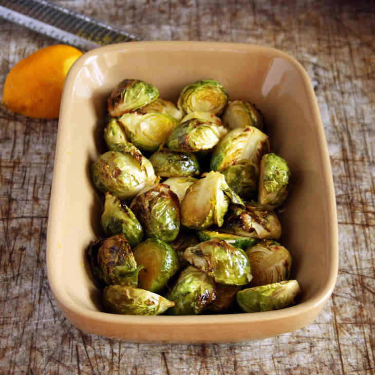 AIP Garlic-Roasted Brussels Sprouts