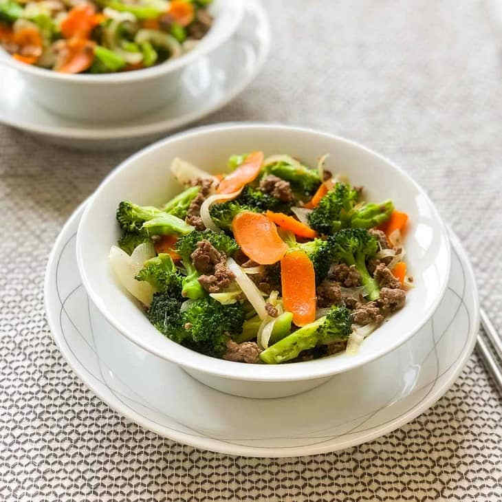 AIP Colorful Beef Veggie Bowl