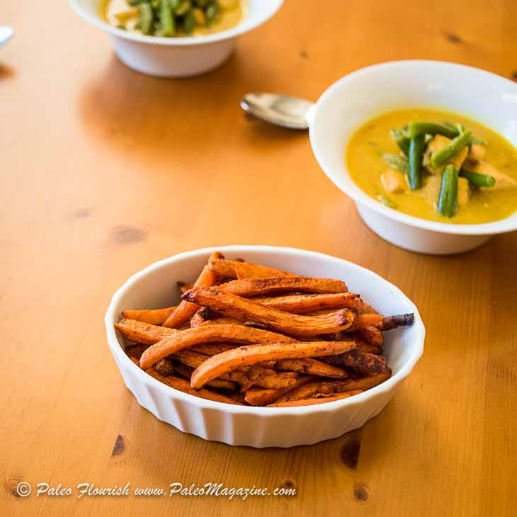 AIP Carrot Fries Recipe with Coconut and Cinnamon