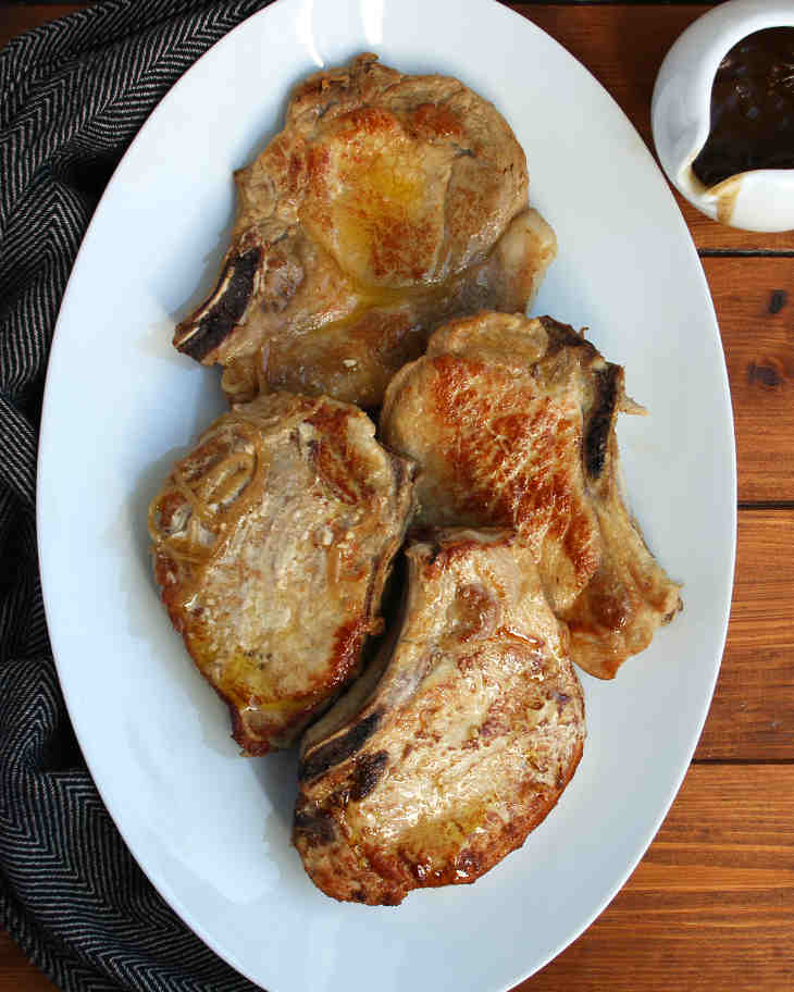 AIP Slow Cooker Pork Chops Recipe #aip https://healingautoimmune.com/aip-slow-cooker-pork-chops-recipe