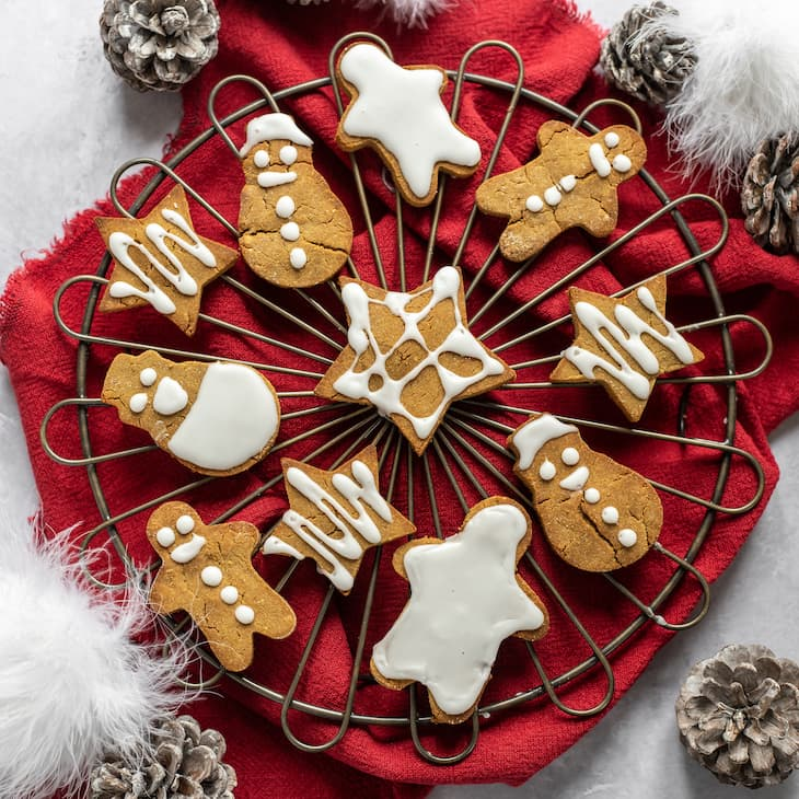AIP Gingerbread Cookies - square